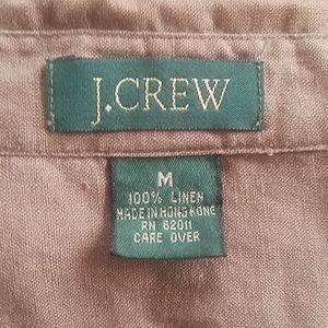 VNTG J.Crew linen button down szM mocha color EUC